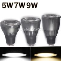 5pcs High Bright 5w/7w/9w LED COB Spot Light Bulb GU10 Cool White/Warm White dimmable AC85-265V lamp Lighting Epistar