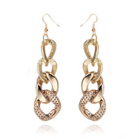 Free shipping 2014 New Cheap Fashion Men Jewelry Gold Plated Earrings For Women Long Drop Earrings Wholesale