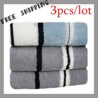 [TOWEL] 35*75cm 95g new 2013 Stripe Terry Towel Bathroom Towels For Adults 100% Cotton Face Towels 3 color Home Textile