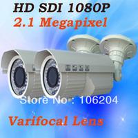 HD SDI 1080P Surveillance Camera system 42PCS infrared Leds night vision Outdoor Manual Zoom Lens WDR CCTV Camera