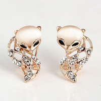 Free shipping 2014 New Fashion Cheap Resin Crystal Earrings For Women Stud Earrings Wholesale