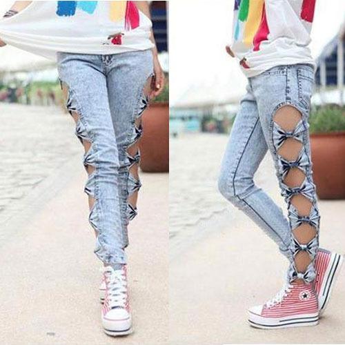 Как старые джинсы сделать модными