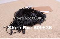 Good quality black hang tag string in apparel,hang tag strings cord for garment,stringing price hangtag or seal tag(ss-31)
