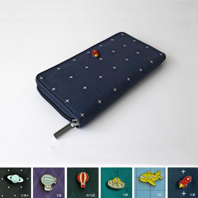 Flight kiitos series long design wallet small fresh canvas wallet zakka wallet(China (Mainland))