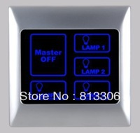 free shipping  AC 220V  Lighting control  1-4 gang or with master