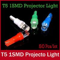 50 X Led T5 Led 12V Lights Bulb Lamp Socket 286 Car Wedge Dashboard Gauge Side Tail Signaling Light White Red Blue Green
