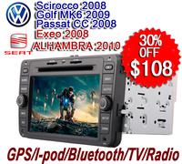 Sharing Digital Car dvd  for VW Passat CC 2008   GPS Sat Navi Multimedia Seat Exeo 2008 DVD System VWM-778GD