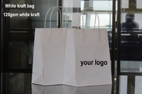 32x25x11cm/custom printed   logo gift kraft paper bag/Recyclable brown kraft paper bag/white kraft paper bag/many color choice