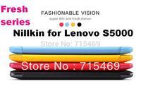 Free shipping 5pcs original Nillkin Flip leather case Fresh series for  Lenovo S5000  +retail box