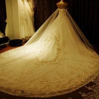 2013 luxury sparkling crystal tube top bandage bride quality luxurious train wedding dress