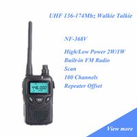 2014 Handheld Radio Intercom Transceiver NF-368V 136-174Mhz