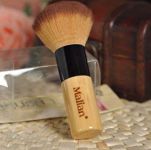 Marion single bamboo handle oversized brushes blush brush / powder brush fiber soft, lint-free DHL/FedEx free shipping(China (Mainland))