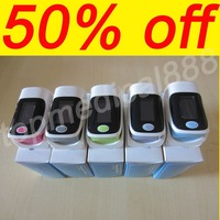 2014 new return low $$$ oxygen monitor heart beat finger pulse oximeter spo2 pr 4 colors good test  6 modes SF90 100 pcs/lot