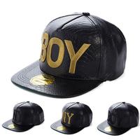 2014 New Fashion Snakeskin Design BOY And NY Embroidery Snapback Hats Hip Hop Flat Brimed Baseball Caps 4 Models For Choose