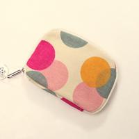 coin purse Small fresh canvas cartoon dot zipper coin purse key wallet key bag for women cosmetic bag