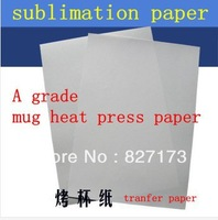 SALES/4A SIZE transfer paper sublimation paper for heat press mug machine(A grade)+free shipping