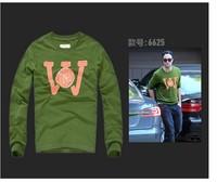 Good quality Plus size XXXL biggie mens green sweatshirt homme NY embroidery pattern fashion men brand pullover