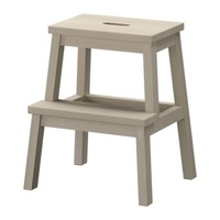 1 piece solid aspen wood children step stool.