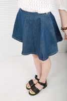 Autumn all-match high waist side zipper a horn denim skirt bust skirt