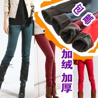 Winter plus velvet thickening colored pencil pants thermal legging jeans pants trousers
