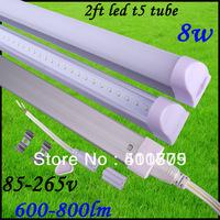 Free shipping led tube t5 600mm /60cm 8w 2ft led tube t5 3pin led tube t5 light 600-800lm led fluorescent tube lamp Hot selling