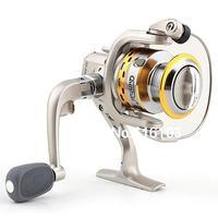 SG 3000 5.1 1 Gear Ratio 6 Ball Bearings Spinning Spool Reel Roller Silver + Gold