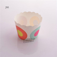 free shipping small size high temperature cake paper cups for sale J-95# 60*50*47MM