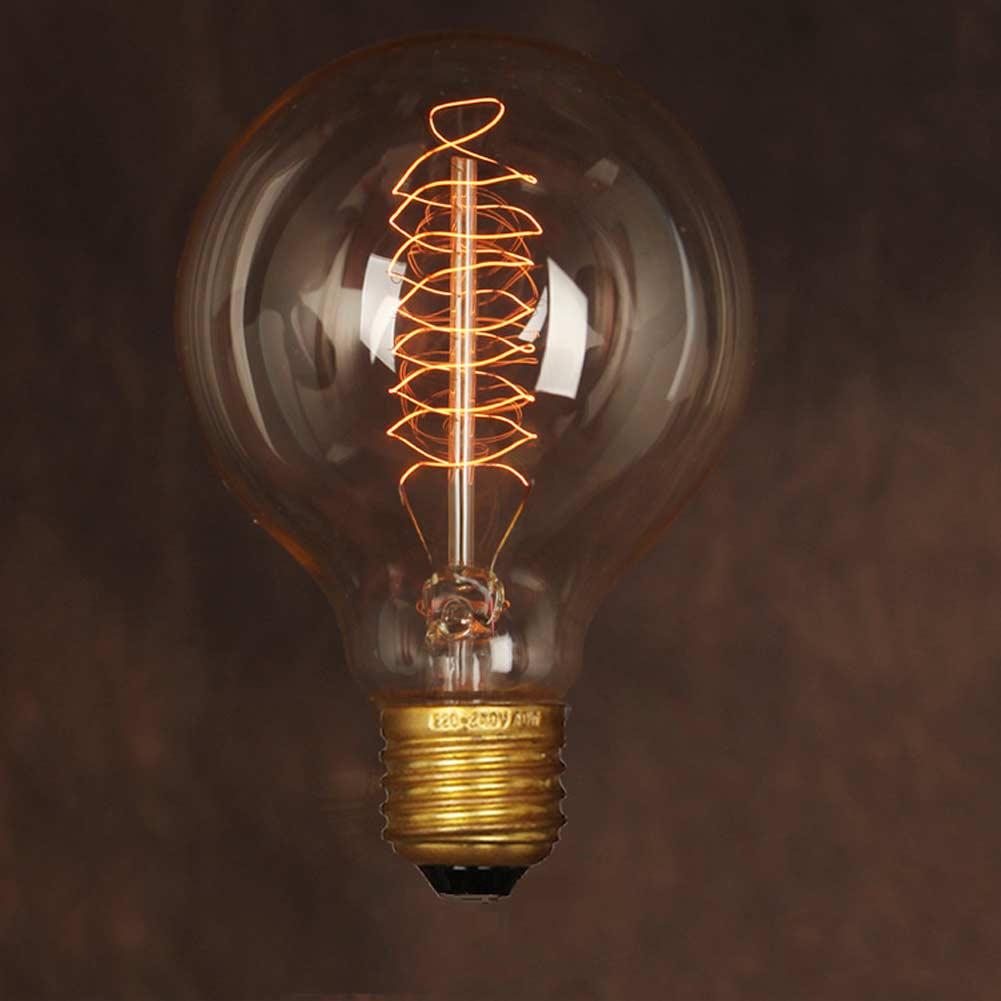 Free Shipping!Vintage Edison Light Bulb G80 Art Decoration Lamp E27 40W Coffee Bar Kitchen Table Carbon Filament Light Bulbs(China (Mainland))