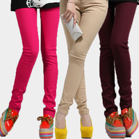 Candy color trousers multicolour casual pants skinny pants pencil pants