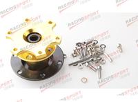 70mm Steering Wheel Quick Release Hub Adaptor For Racing Karting GOLDEN