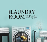 THE LAUNDRY ROOM LOADS OF FUN Vinyl wall lettering quotes and sayings home art decor decal Home Decor