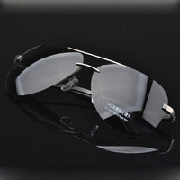 Fashion aluminum-magnesium polarized sunglasses /men sunglasses driving mirror/Semi-frame sunglasses/eyeglasses G111