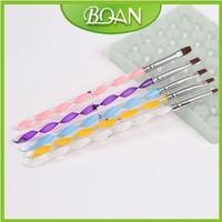 5PCS/set Bio Sculpture Gel Brush Kit for Nail Acrylic Gel Pen Set Nail Nylon Brush Set 5PCS Free Shipping