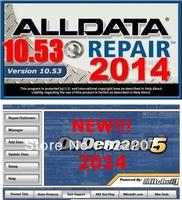 2014 Vehicle repair software alldata v10.53 All data+2014 Mitchell OnDemand5 Repair& Estimator diagnosis data 2 in one 750G Hdd