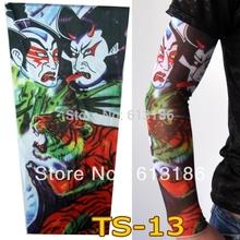 Free Shipping 2 pcs New Skull Fake Nylon Tattoo Sleeves Arm Warmer For Men,More 140 Styles Can Choose(China (Mainland))