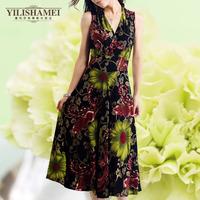 new 2014   Hot fashion print casual dress(freeshipping)