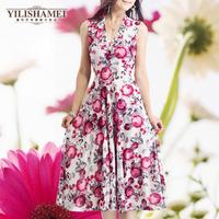 new 2014 summer new bohemian casual dress women Slim temperament(freeshipping)
