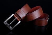 belt men New design Men's Fashion style pin buckle genuine leather Belt 3 color freeshipping