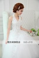 2014 White Sexy Off shoulder flower bride wedding sweet princess Slim wedding dress