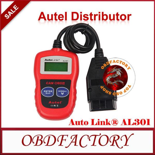 100% Original Auto Diagnostic Scan Autel AutoLink AL301 OBD II & CAN Code Reader Auto Link AL-301 Update Official Website(China (Mainland))