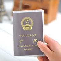 New Arrival Wholesale 50pcs/lot Waterproof Passport Cover Protective Testificate Scrub Case Transparent/Polished  PVC Card Case
