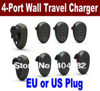EU/US Plug Wall charger AC Adapter  4 Port USB For Tablets, Smart Phones & More