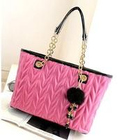Free Shipping 2013 Hot new Fashion bag Brand boston Women handbag Michaeli handbag High quality Leather tote Women messenger bag