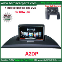 Car GPS navigation for BMW X3 with 7 inch digital LCD and GPS/Bluetooth/A2dp/PIP/USB flash disk/SD card