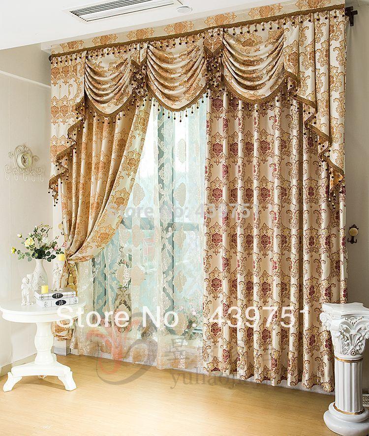 Jacquard tende a pacchetto moda di lusso tessili per la casa tenda ...