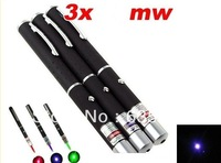 3PCS Laser Pointer Pen Combo20MW Green + 20mw Blue/Violet + 5mw Red