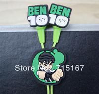 Anime New BEN10 headphones 3.5mm In-Ear American Anime Ben10 Earphones Wholesale 100pcs/lot