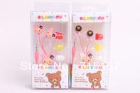 san-x New headphones 3.5mm In-Ear Sentimental Circus Earphones Wholesale Rilakkuma Earphones 100pcs/lot