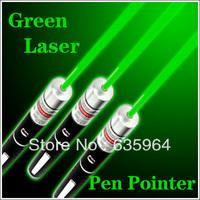 free shipping 3pcs 532nm green Laser Pointer Pen Beam Light 20mW