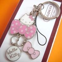 hello kitty keychain cute Phone Strap novelty items innovative trinket promotional keychain free shipping